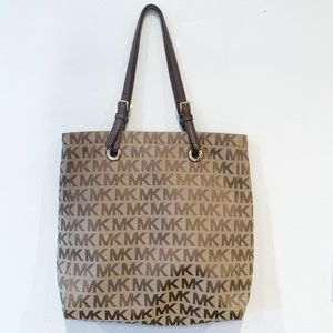 Michael Kors MK canvas carry all Tote large